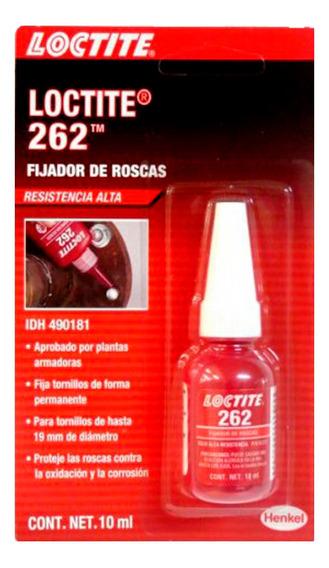 Fijador De Roscas Loctite 262 Resistencia Alta 10 Ml 3 Pz