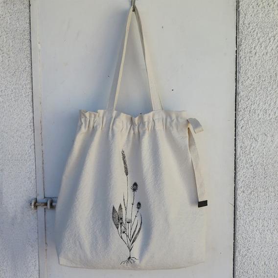 Tote Bolso Shopping Bag De Tela Regulable Pintado A Mano L