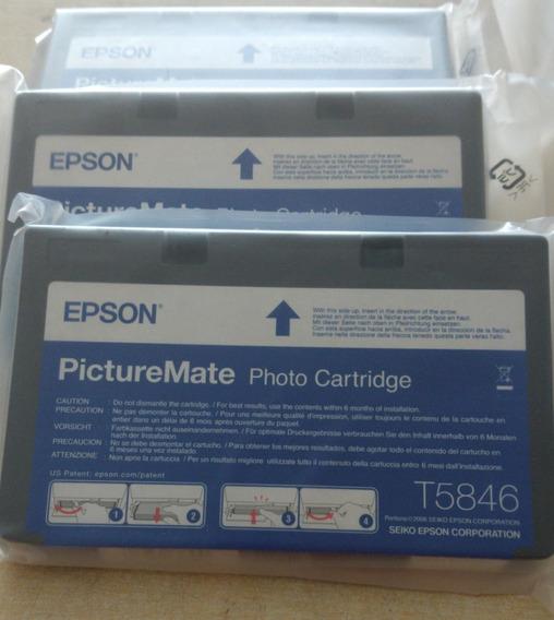 3 Cartuchos Originais T5846 Epson Picture Matte Pm225