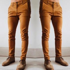 Pantalon Jean Hombre Elastizado Chupin Chino Vestir H0110