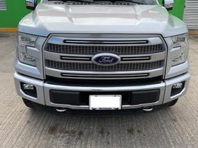 Ford Lobo 3.5 Doble Cabina Platinum 4x4 2016 Plata