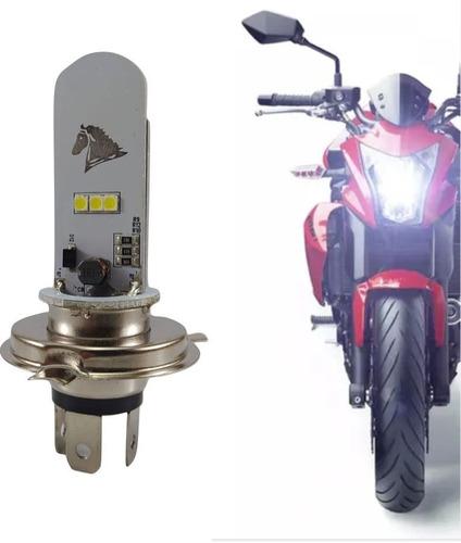Lampada Farol Led H4 Com Strobo 6500 K Stallion