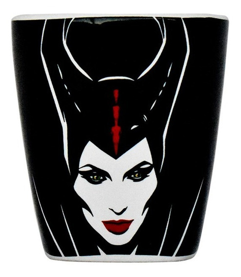 Taza Cafe Cuchara Disney Maleficent Malefica Ceramica 440ml