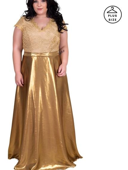 Vestido Madrinha Plus Size Feito Sob. Medida Mãe Da Noiva