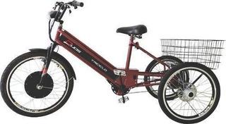 Triciclo Elétrico Duos Sport 800w 48v 15ah Vermelho