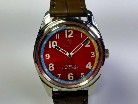Relógio Tressa Vintage A Corda Manual Década De 70 Cod.71