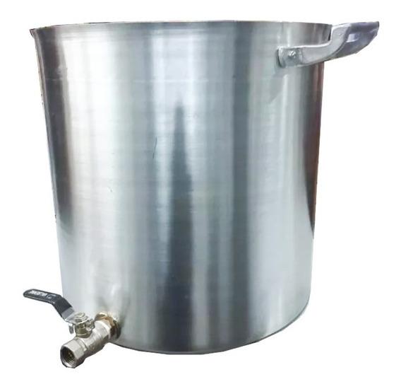 Olla Aluminio N° 40 Con Canilla 50 Litros Cerveza Artesanal