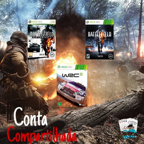 Wrc 5 + Battlefield 2 E 3 Digital Compartilhado Xbox 360