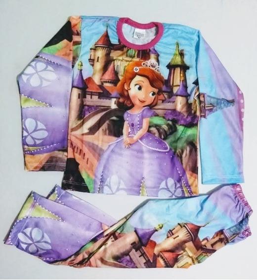 Conjunto Pijama Infantil Personagem Princesinha Sofia