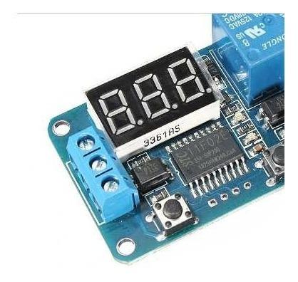 Rele Temporizador Atraso 12v Com Display 0~999 Seg Arduino