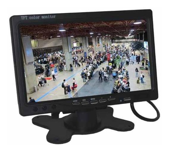 Monitor Veicular 7 Polegada Portatil Colorido P Camera De Re