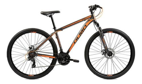 """Imagen 1 de 2 de Mountain bike Olmo Wish 290 R29 18"""" 21v frenos de disco mecánico cambios Shimano Tourney TZ31 color negro/naranja"""