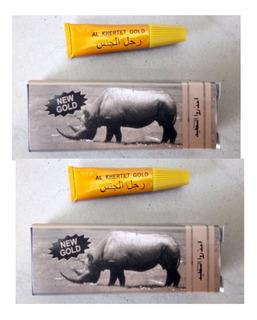 2 Rhino Retardante Dorado Crema Potente Importado Rino