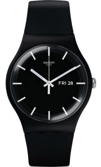 Reloj Swatch Mono Black Suob720 Hombre Envio Gratis Garantia Oficial