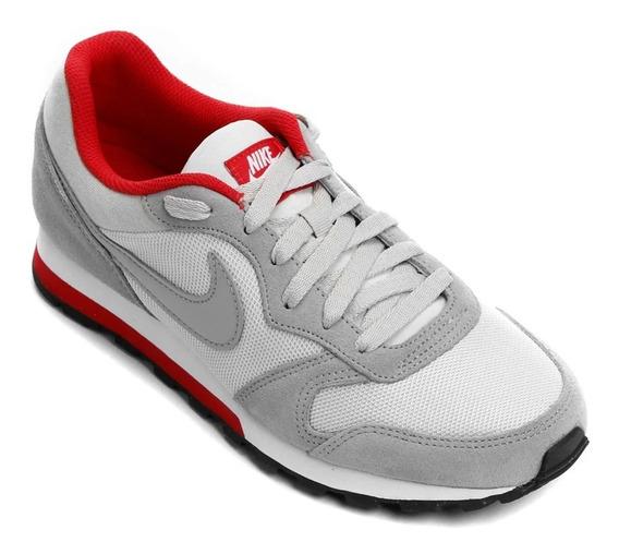 Tênis Masculino Nike Md Runner 2 Masculino Cinza/verm 7616