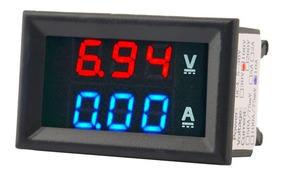 Voltimetro Amperimetro 0 A 100v 10a Dual Display Led