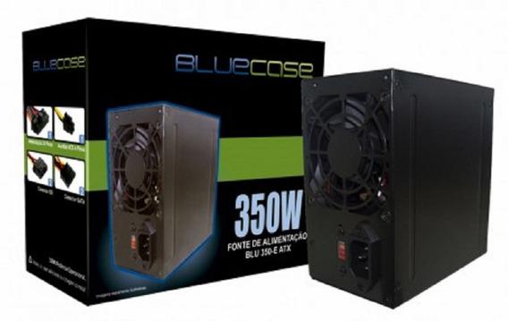 Fonte Atx Bluecase 350w Real Reais Bivolt Chaveada 110/220v Silenciosa Barata Coller 8cm Preta
