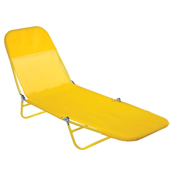 Cadeira Espreguiçadeira Textilene Praia Piscina - Mor
