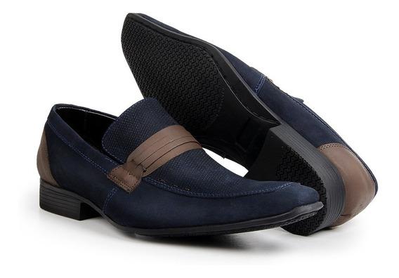 Sapato Masculino Sapatenis Bico Fino Casual Italiano Couro
