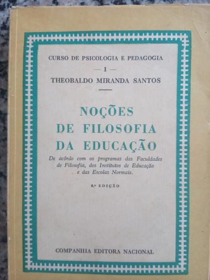Livro Noções De Filosofia Da Educação