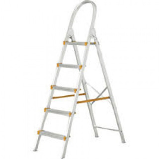 Escada Aluminio Doméstica 5 Degraus Agata