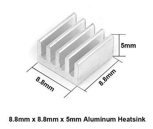 Dissipador Calor Chipset A4988 Em Alumínio 10 Pecas Colltex