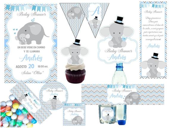 Kit Imprimible Baby Shower Para Niño