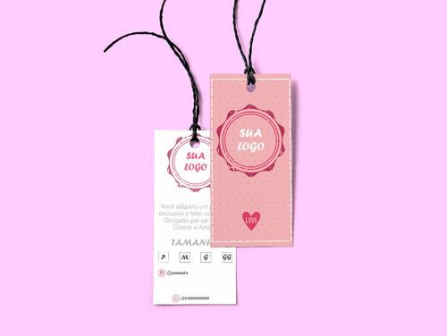 Kit De Tag E Cartão De Agradecimento + Brinde