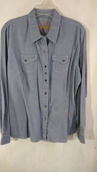 Blusa Camisa Dama Wrangler Vaquera Extra Grande