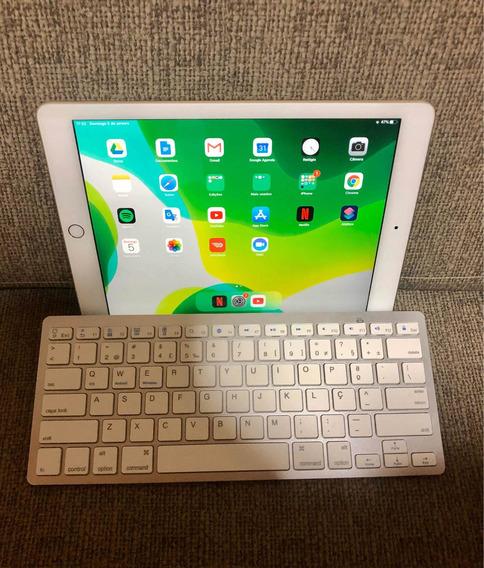 iPad Na Caixa E Teclado Bluetooth Pouquíssimo Usado.
