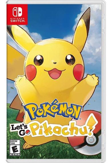 Pokemon Lets Go Pikachu Switch Mídia Física Lacrado