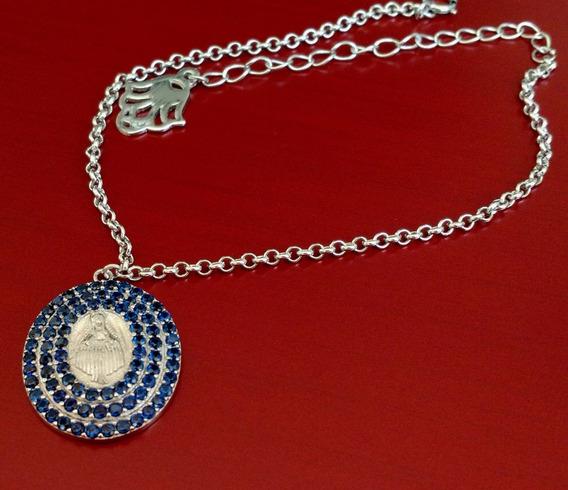 Pulseira Feminina Medalha Nossa Senhora Prata Maciça 925