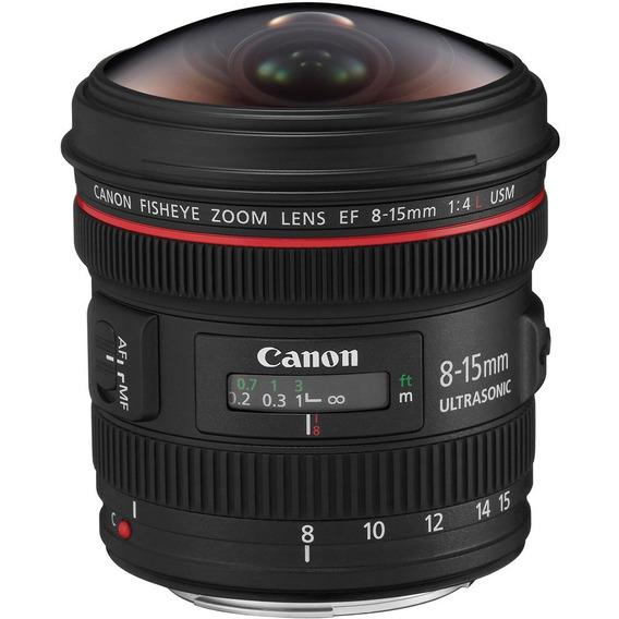 Lente Profissional Canon Ef 8-15mm F/4l Fisheye Usm