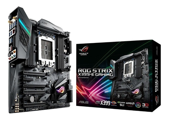 Placa Mãe Asus Rog Strix X399-e Gaming Amd Tr4 Threadripper