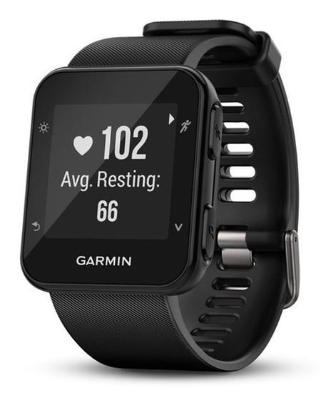 Relógio Esportivo Garmin Forerunner 35 Corrida Gps Monitor Cardíaco Smartwatch Preto