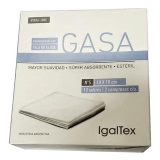 Gasa Tela No Tejida Igaltex 10x10 Cm - 10 Sobres
