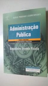 Livro Administração Pública Série Provas E Concursos