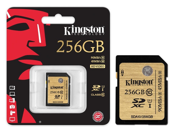 Cartao De Memoria Classe 10 Kingston Sdxc 256gb Uhs-i U3
