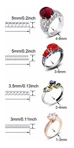 Imagen 1 de 3 de 6 Ajustadores Para Anillo Compromiso Matrimonio Dif Medidas