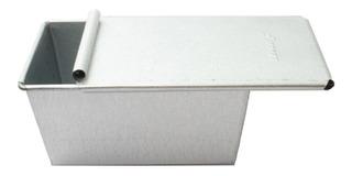 Molde Pan De Caja Con Tapa Panque Barra Mini 20cm Uso Rudo