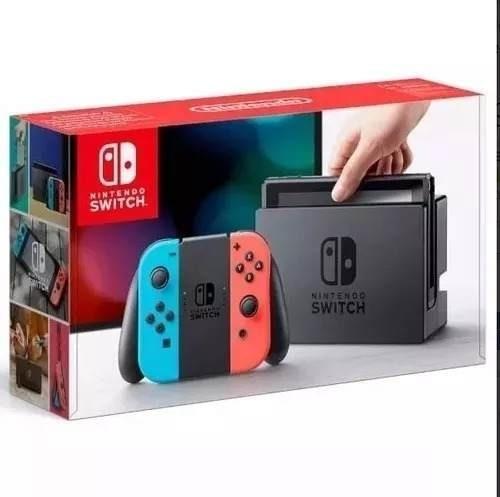 Nintendo Switch 32gb Neon +21 Jogos Na Memória+ Zelda+mário