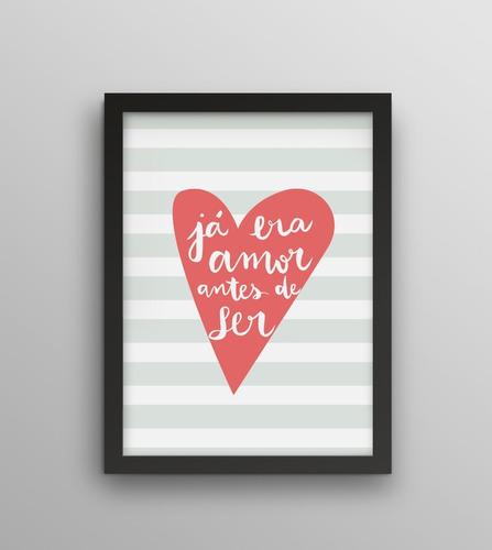 Imagem 1 de 2 de Poster - Já Era Amor