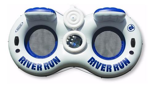 River Flotador Anillo Inflable 2 Asientos + Cava + Porta V.