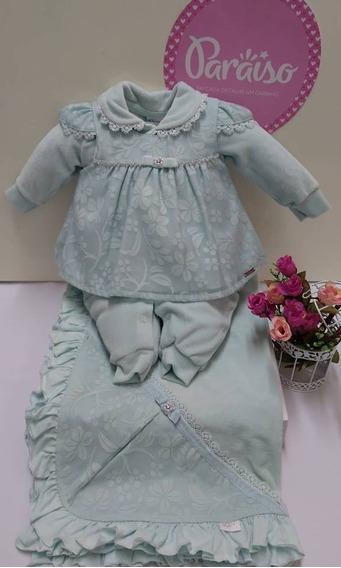 Saida Maternidade Paraiso Bebê Menina Plush Macacao Cod 7969