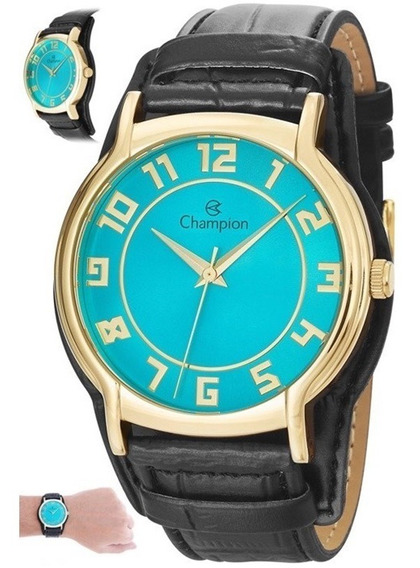Relógio Feminino Pulseira De Couro Champion Cn20319f