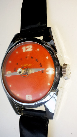 Antigua Radio De Pared Welky Muy Rara - Forma Reloj - 78 Cm