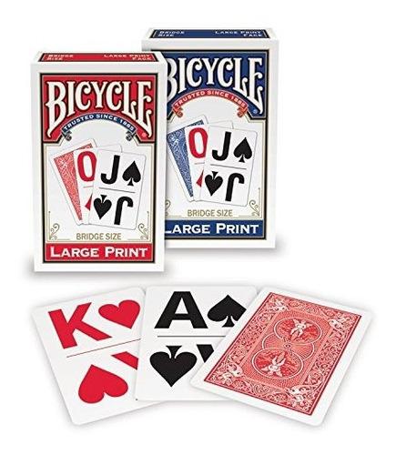 Juego De Cartas Marca Bicycle Paquete X4