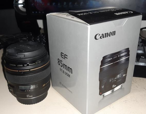 Lente Canon 85mm 1.8f