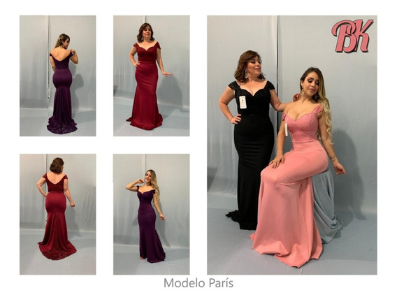 Vestido De Fiesta Modelo Paris