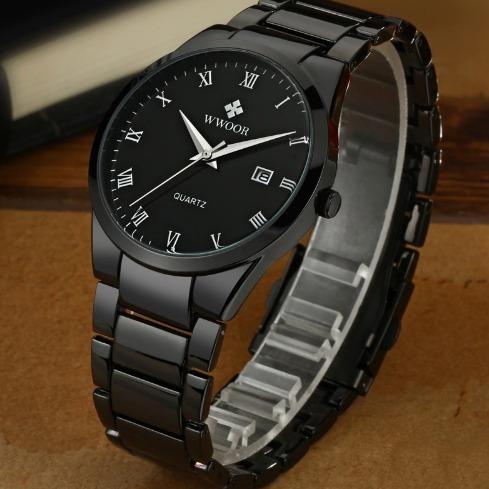 Relógio Masculino Preto Original Promoção + Brinde
